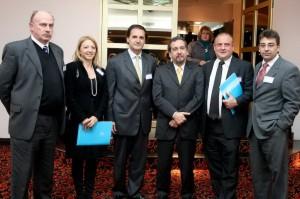 Autoridades de Biogénesis Bagó-Romikin-Univ. Nacional de Quilmes junto al Ministro Barañao.